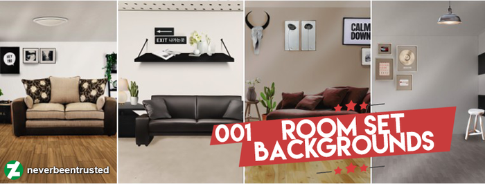 001 Room Set Backgrounds by neverbeentrusted