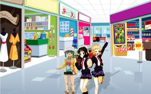 Shopping with the Girls by yugioh1985