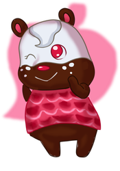 Acnl OC - Brownie by ZanQda