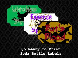 Ready to Print - Bottle Labels by PointyHat