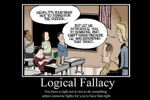 Logical Fallacy demotivator by Party9999999