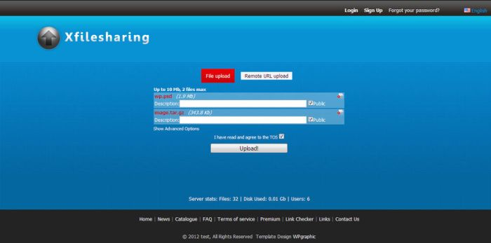 Free XFileSharing Template by isfahangraphic