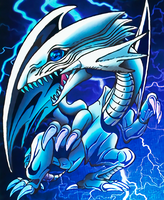 Blue-Eyes White Dragon Bandai Artwork by Yugi-Master