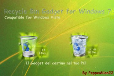 RecycleBin Gadget For Windows7 by peppemilan22