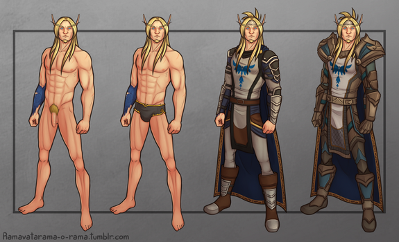 Commission: Idoriel Character Sheet by Ramavatarama