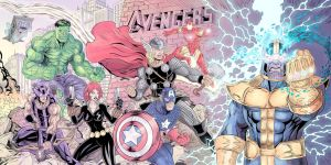 Avengers (Jim Lee Homage) by J-Rayner