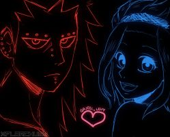 : Gajeel and Levy : by Florchus