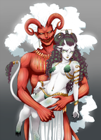 Amon and Evelit by Czhe