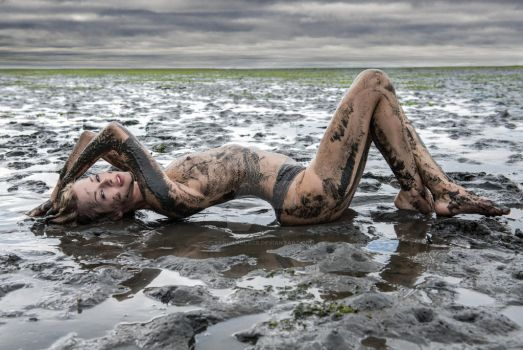 Nude Mud Flats Full Size for Print by SandandLace