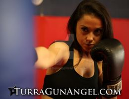 Rachel Alig Kickbox training for Turra : Gun Angel by martheus