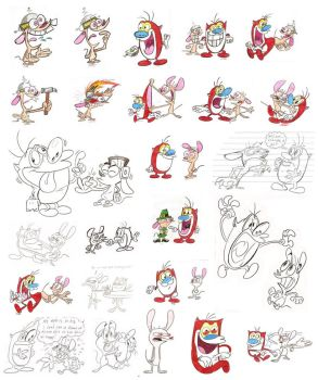 Ren and Stimpy sheet 1 by Spectrumelf