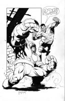 Colossus vs. Juggernaut by DerecDonovan