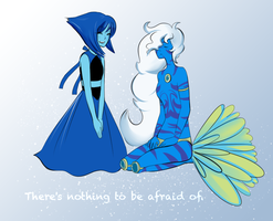 Request: Lapis Lazuli and Aquamarine by monsieurmouton