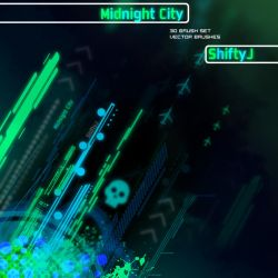 Midnight City - Vector Brushes by ShiftyJ