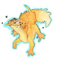 Ever wondered what a dragon gecko would look like by MM3lody