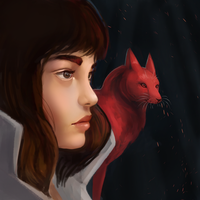 Girl With Fox by Noctualis