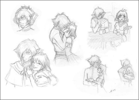 ZelAme sketches by anla