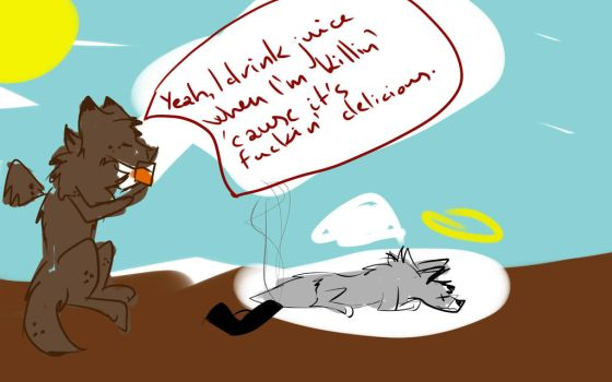 brown kitten fighting society by kinable12