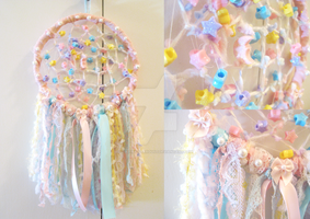 Pastel Skies Dreamcatcher by Sugary-Stardust