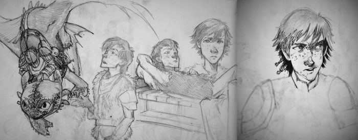 Hiccup Sketchdump #5 by MonoFlax