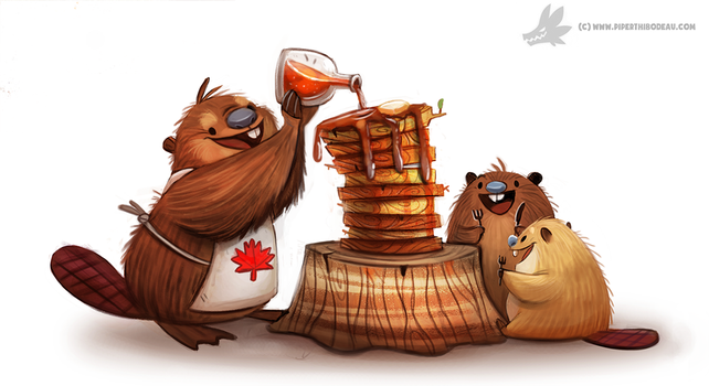 Daily Painting #953. Happy Canada Day! (OG) by Cryptid-Creations