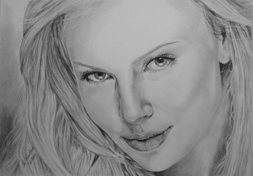 Charlize Theron by WitchiArt