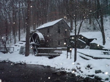 The Mill in the Snow by Wyrdric