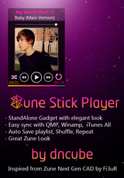 Zune Stick Player by dncube