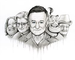 Robin Williams Tribute Portrait Version 5 by EmilyStepp