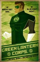 Green Lantern constructive art by waitedesigns
