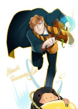 newt and niffler by MJeevas508