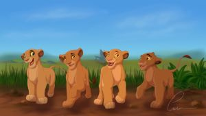 Sarabi and her Siblings - 2014 version by Takadk