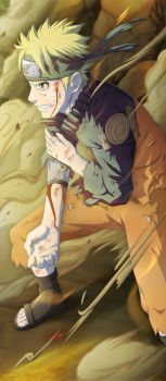 Naruto In Battle // Naruto 629 by goldenhans