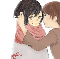 I will protect you- Attack on Titan by Lovely-Livi