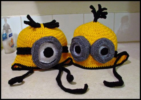 Minion Hats by MyntKat