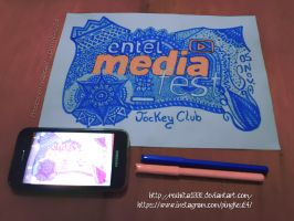 Entel Media Fest - Zentangle . PingKeu24 by rozhita1992