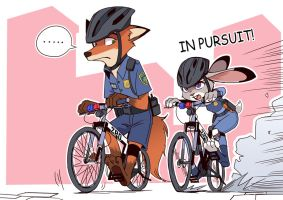 Try Everything: ZPD Bicycle Patrol by Lleu-Momiji