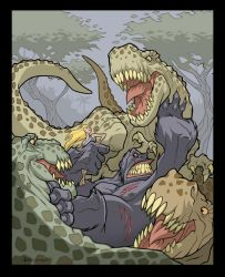 Kong and the lizards by PReilly