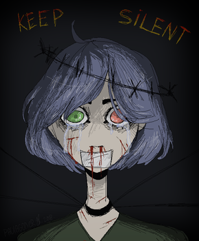 Keep Silent [pixel art] by BronArty