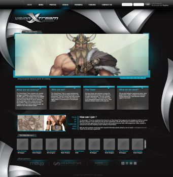 vision xtream web layout by graphstas