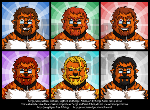 Ligers in pixel by Fast-Ashadonic