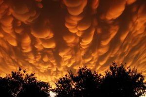Mammatus Clouds by voidrunner