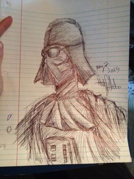 Vader finished sketch by TheIronLady4595