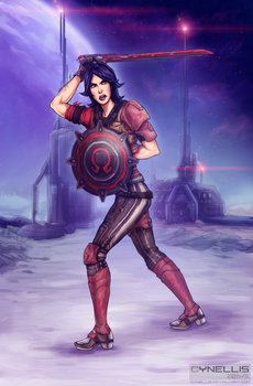 Athena the Gladiator (Borderlands: The PreSequel) by cynellis