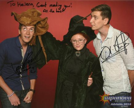 Me with James and Oliver Phelps by gurihere