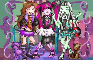 Freaky Lovely Fashion Friends by ruzovymonster