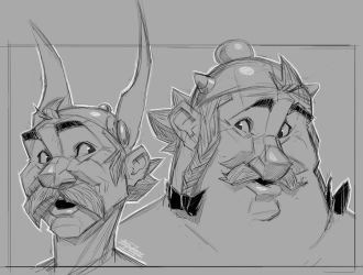 Asterix and Obelix sketchix by ZedEdge