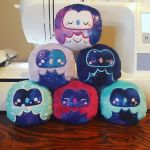 Cosmic Owl Plushies by Slothie-Studios