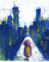 girl in the city by wanderingdaydream3r