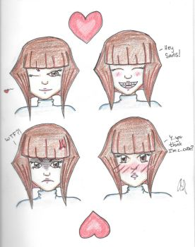 Expressions of Frisk by VelvetBlue15